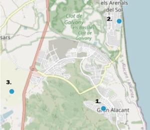 værstasjoner i Gran Alacant